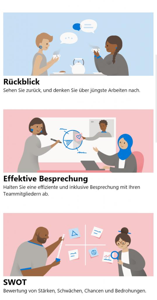 Übersicht Whiteboard App Funktionen