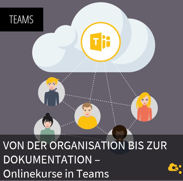 Von der Organisation bis zur Dokumentation - Onlinekurse in Teams