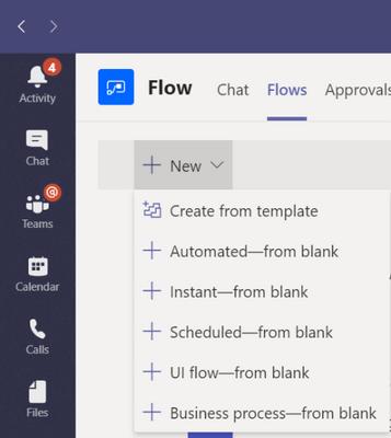 flow registerkarte hinzufügen
