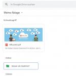 google drive markiert funktion