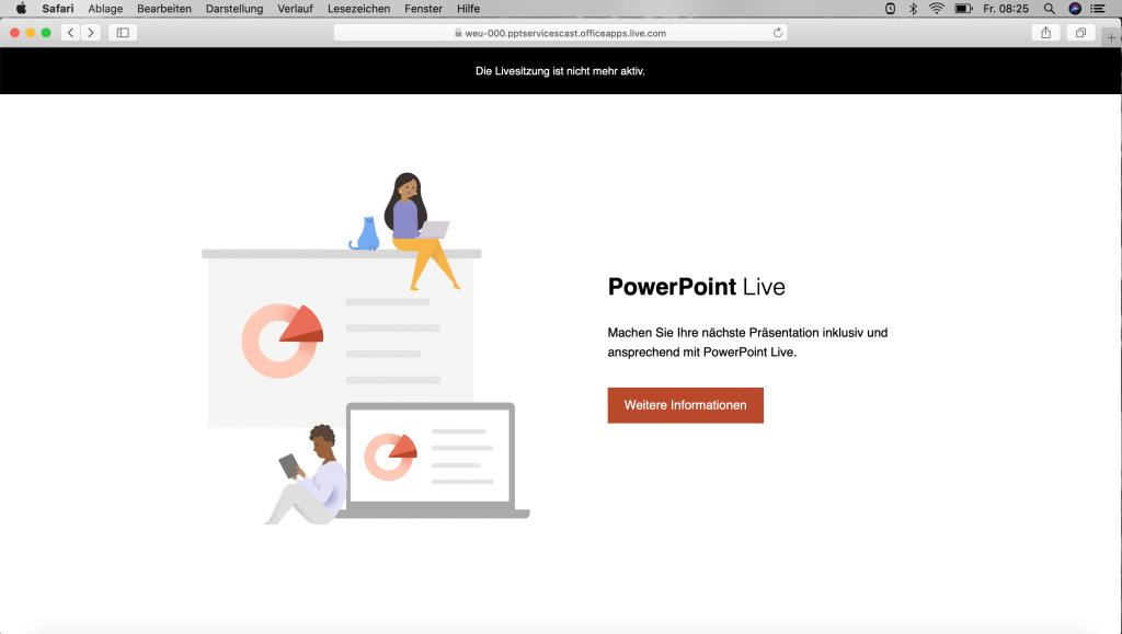 powerpoint live schliessen