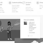 Webseite in grautönen